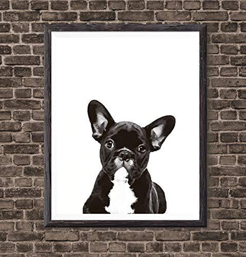 Cute Wall Decor Aesthetic French Bulldog Puppy Print Watercolor Print Wall Art Frenchie Art Dog Art Dog Frenchie Print Bulldog Painting Puppy French Bulldog Gift Kids Room Posters Girls