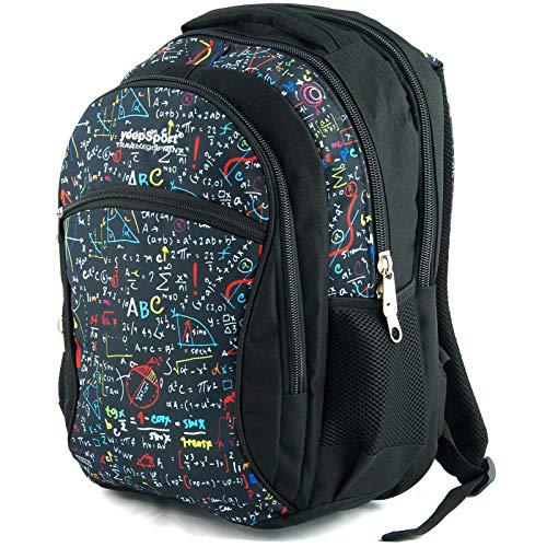 Zaino scuola media per ragazzi e ragazze, realizzato in EU - Premium - yeepSport S94dx (Algebra)
