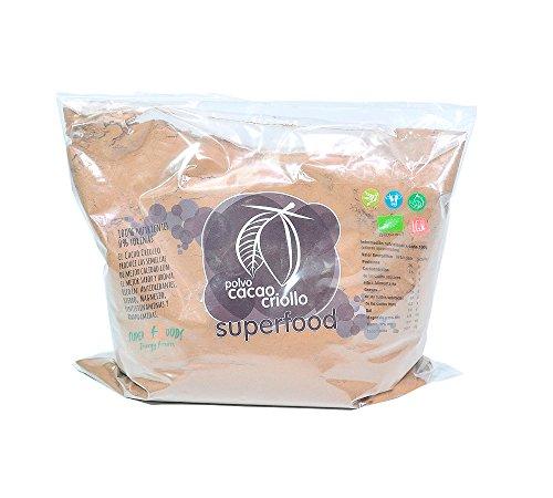 Energy Feelings Cacao Puro en Polvo Ecológico | Cacao sin Azúcar | Cacao Orgánico Natural | Vegano | Sin Gluten | Sin Lactosa | Pack XXL - 1kg