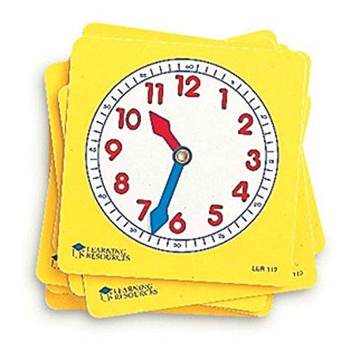 Learning Resources LER0112 Zifferblätter für Schüler (Set mit 10Stück)
