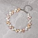 HUIZHANG Perle élégante Dames BraceletNaturel Pomme de Terre d'eau Douce Perle Charme...