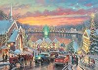 西洋絵画 トーマス キンケード クリスマスの風景 42x30cm [並行輸入品]