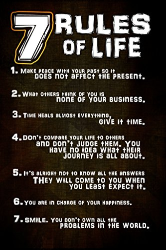 Keen 7 Rules of Life Wall Poster Print|12 X 18 in Poster|KCP42