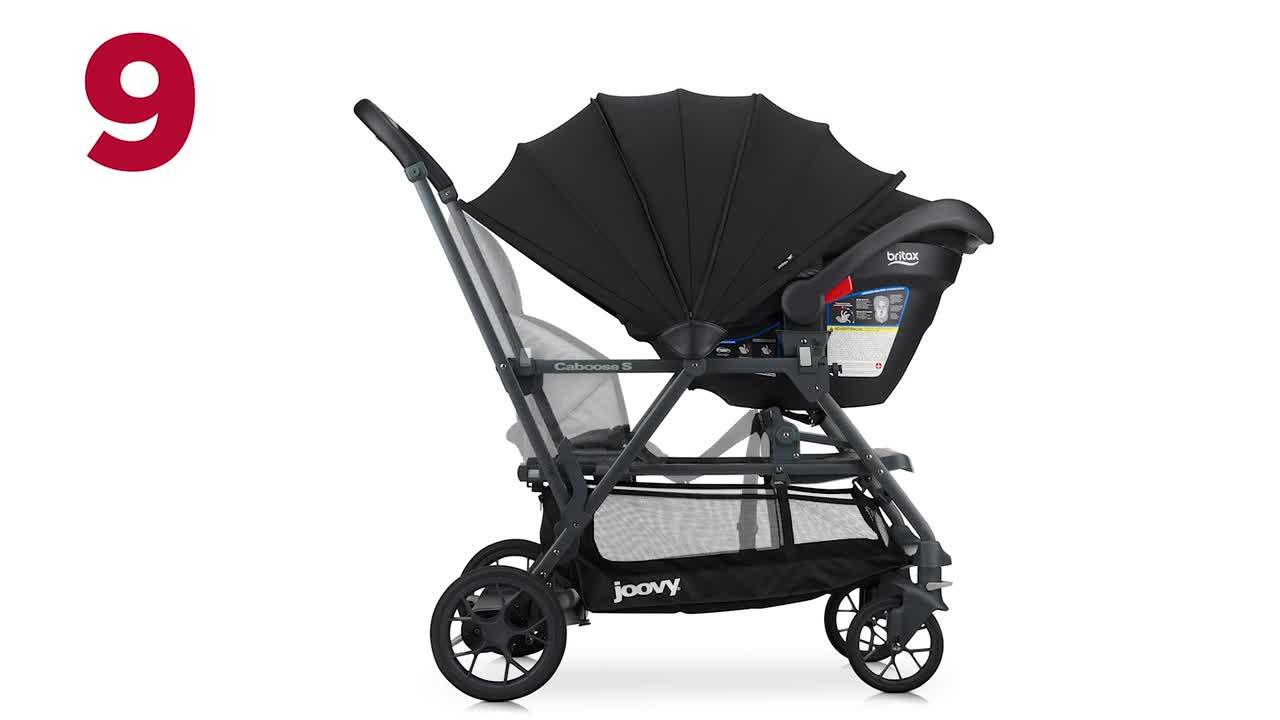 Joovy Caboose S Kinderwagen Premium Sitz Und Steh Kinderwagen Doppelter Kinderwagen Kinderwagen Für Kinder Unterschiedlichen Alters Multifunktionaler Kinderwagen Mit Zusätzlichem Zubehör Graue Baby