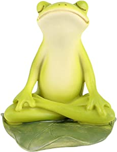 Tfro & Cile Fairy Garden Animal Statue Outdoor Miniature Meditation Frog Figurine - 3.3 Inch Height