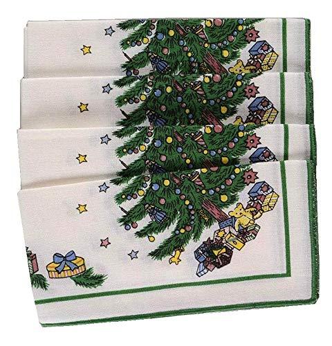 NIKKO Christmastime Happy Holidays Linen Napkins - Set of 4