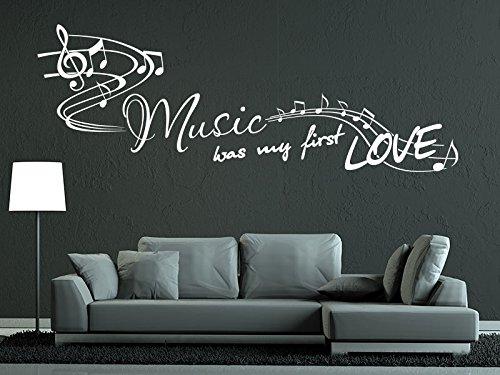 Klebeheld® Wandtattoo Music was My First Love.