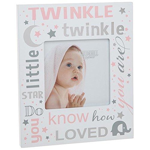 Twinkle Twinkle Little Star Bilderrahmen für Babyfotos, Rosa