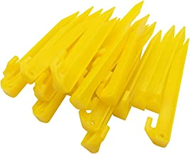 GDLPZM 24pcs Plastic Tent Pegs Durable Spike Hook Awning Camping Caravan Pegs Accessory