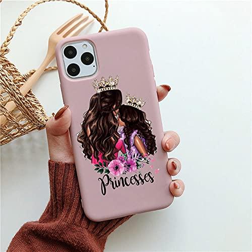 Fashion Family Candy Phone Case para iPhone 11 SE 2020 Super Mom Baby Girl para iPhone 12 Pro MAX X XS MAX XR 6 7 8 Plus, Nake Pink12, para 7plus 8Plus
