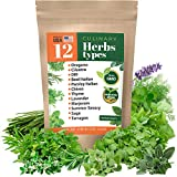 Herb Garden Seeds Collection - 12 Culinary Herb Seeds Pack - Non-GMO...
