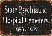 州立精神医学 金属板ブリキ看板警告サイン注意サイン表示パネル情報サイン金属安全サイン