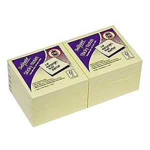 Snopake 12133 – Notas autoadhesivas (amarillo, paquete de 12, 100 hojas por bloc)