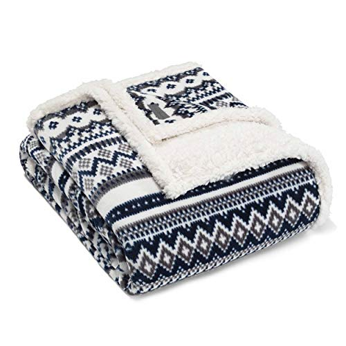 Eddie Bauer Shelton Fair Isle Throw, 60x70
