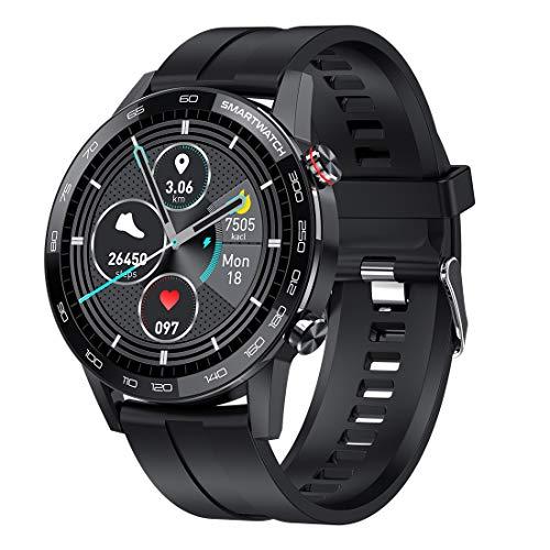 Exanko Reloj Inteligente L16 Hombre ECG + PPG IP68 Impermeable PresióN Arterial Frecuencia CardíAca Rastreador de Ejercicios Reloj Inteligente Deportivo