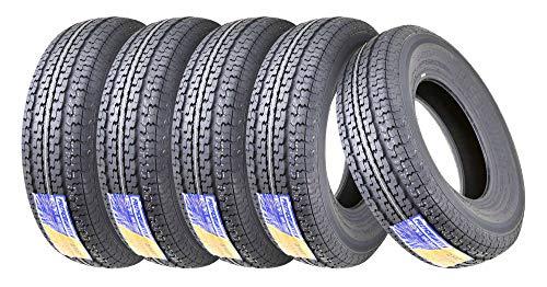 5 Premium FREE COUNTRY Trailer Tire ST225/75R15 Radial 10PR Load Range E w/Scuff Guard