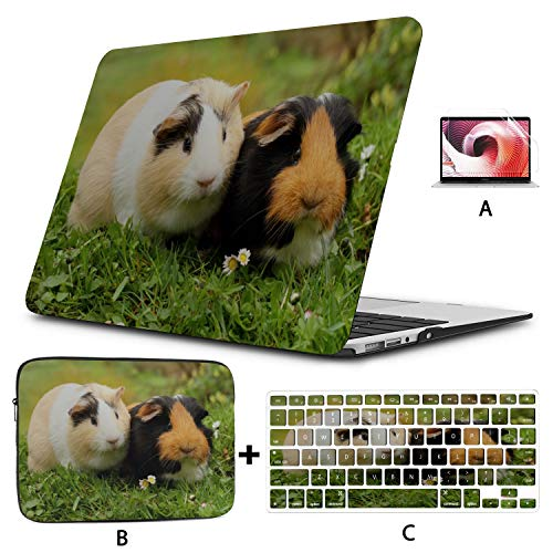 MacBook A1466 Case Kawaii Cute Guinea Pig Family MacBook Pro 15inch Case Hard Shell Mac Air 11'/13' Pro 13'/15'/16' with Notebook Sleeve Bag for MacBook 2008-2020 Version