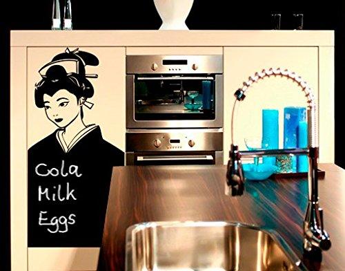 mantiburi Tableau Noir Autocollant avec craies no.CG144 Geisha, Farbe:Salbei;Größe:120cm x 147cm