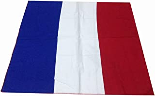 50x50 cm France Handkerchief Cotton pocket square Hanky Bandana Scarf Hankie Headband World Cup Flag France Euro football