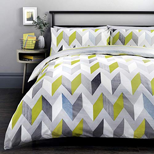 Fusion - Grafix - Easy Care Duvet Cover Set - Double Bed Size in Grey