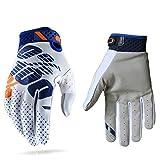 Guantes de carreras de motocross para hombres y mujeres; guantes deportivos con dedos completos en tallas S, M, L, XL y XXL