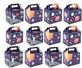 Kingparty® - Scatole per bomboniere per lo spazio, per bambini, confezione da 12