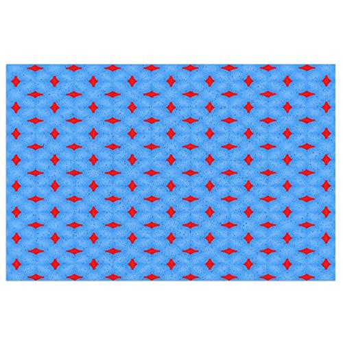 Alfombrilla para Puerta Alfombrilla para Puerta Delantera,Interior y Exterior,patrón Azul,Textura de patrón Simple,Rojo,Alfombrilla para Puerta Delantera,,23.6 x 15.7 Pulgadas