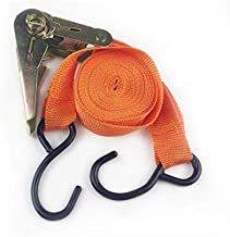JIGVA Ratchet Tie Down Cargo Strap,25Mm X 4.6M Polyester Double J-Hooks Ratchet,Cargo Straps for Bind Luggage in car Truck and Bike