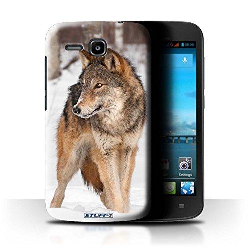 Hülle Für Huawei Ascend Y600 Wilde Tiere Wolf Design Transparent Ultra Dünn Klar Hart Schutz Handyhülle Case