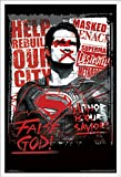 Trends International DC Comics Movie - Batman v Superman - False God Wall Poster, 22.375' x 34', White Framed Version