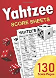 Yahtzee Score Sheets: 5 x 7 Small Size Yatzee Score Pads / Non-Perforated Book