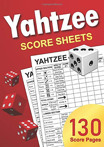 Yahtzee Score Sheets: 5 x 7 Small Size Yatzee Score Pads / Non-Perforated Book
