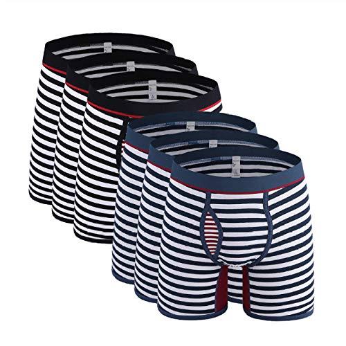 Stely E Boxershorts voor heren, katoen, S lang, boxershorts, mannen, ondergoed, maat 6XL, slip (6 stuks)