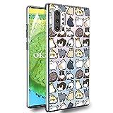 OKZone Cover Samsung Galaxy Note 10 Plus [con Pellicola Proteggi Schermo], Custodia Gel Trasparente Morbida Silicone Sottile TPU Cover Protettiva Compatibile con Samsung Galaxy Note 10 Plus (Gatto)