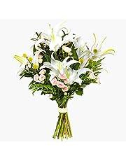 Ramo de flores naturales a domicilio lirios Sevilla - Flores frescas - Envío a domicilio 24h GRATIS - Tarjeta dedicatoria incluida - Caja especial para ramos de flores naturales.