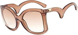 Sunglasses Sunglass Triangle Rice Nail Glasses Trend Wavy Temples Sunglasses Style UV Protection (Color : D)