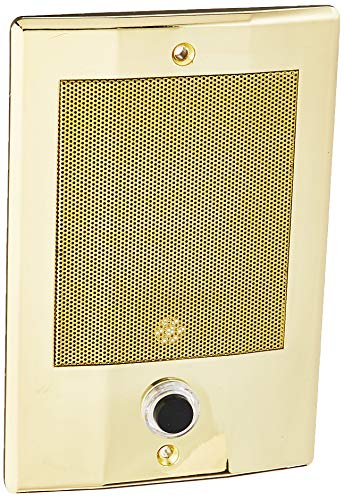 M&S Systems BD3BN Intercom Door Station with Bell Button, Bright Brass