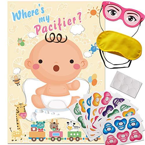 ADJOY baby shower party favors spiel pin the dummy auf dem baby spiel 32 x 21.3