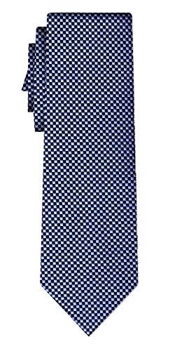 Cravate soie small square grid, blue