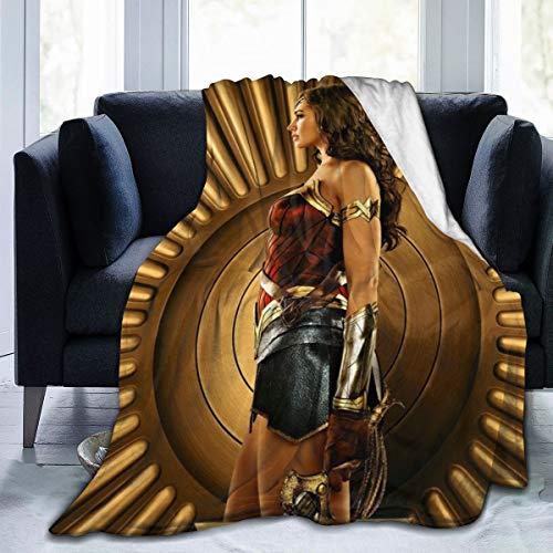 """KANKANHAHA Wonder Woman, coperta super naturale ultra morbida in micro flano, lussuosa e accogliente coperta di peluche stampata per divano sedia soggiorno, Nero , 80\""""x60\"""""""