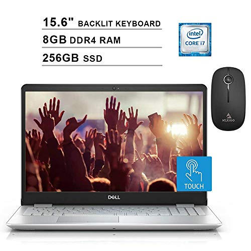 2020 Dell Inspiron 15 5000 FHD 1080P Touchscreen Laptop| Intel 4-Core i7-8565U up to 4.6GHz| 8GB RAM| 256GB SSD| Backlit KB| FP Reader| Windows 10 + NexiGo Wireless Mouse Bundle (Renewed)