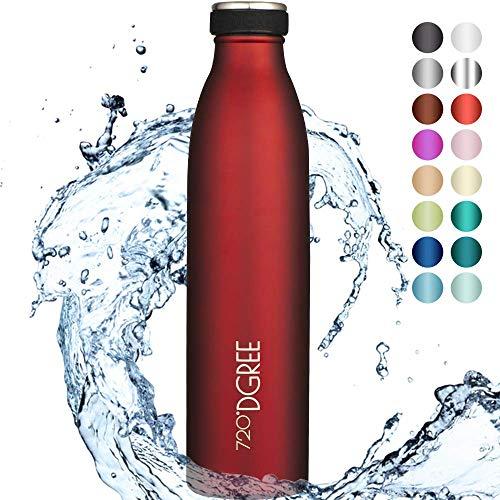 """720°DGREE Edelstahl Trinkflasche """"milkyBottle"""" - 750ml - BPA-Frei, Auslaufsicher, Kohlensäure geeignet - Thermosflasche für Sprudel, Sport, Uni, Schule, Fitness, Outdoor, Camping"""