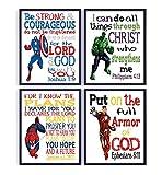 Superhero Christian Nursery Set of 4 Unframed...