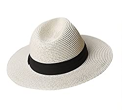 Foldable straw hat with sun protection