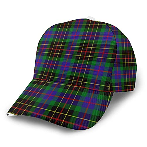Jack16 Gorra de béisbol ajustable para hombre y mujer, sombrero para papá, a cuadros, brodie, caza, tartán, ajuste para cola de caballo juvenil, dama, tenis, pelota de golf, gorra ajustada