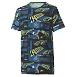 PUMA Alpha AOP tee B Camiseta, Niños, Amarillo, 7-8Y