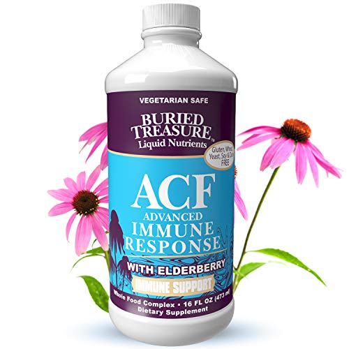 Buried Treasure ACF Fast Relief Rapid Immune Recovery with 1,000 mg Vitamin C, Elderberry, Echinacea and Herbal Blend for Complete Immune Support Dietary Supplement, 16 oz Buried Treasure Vitamin C Vitamins