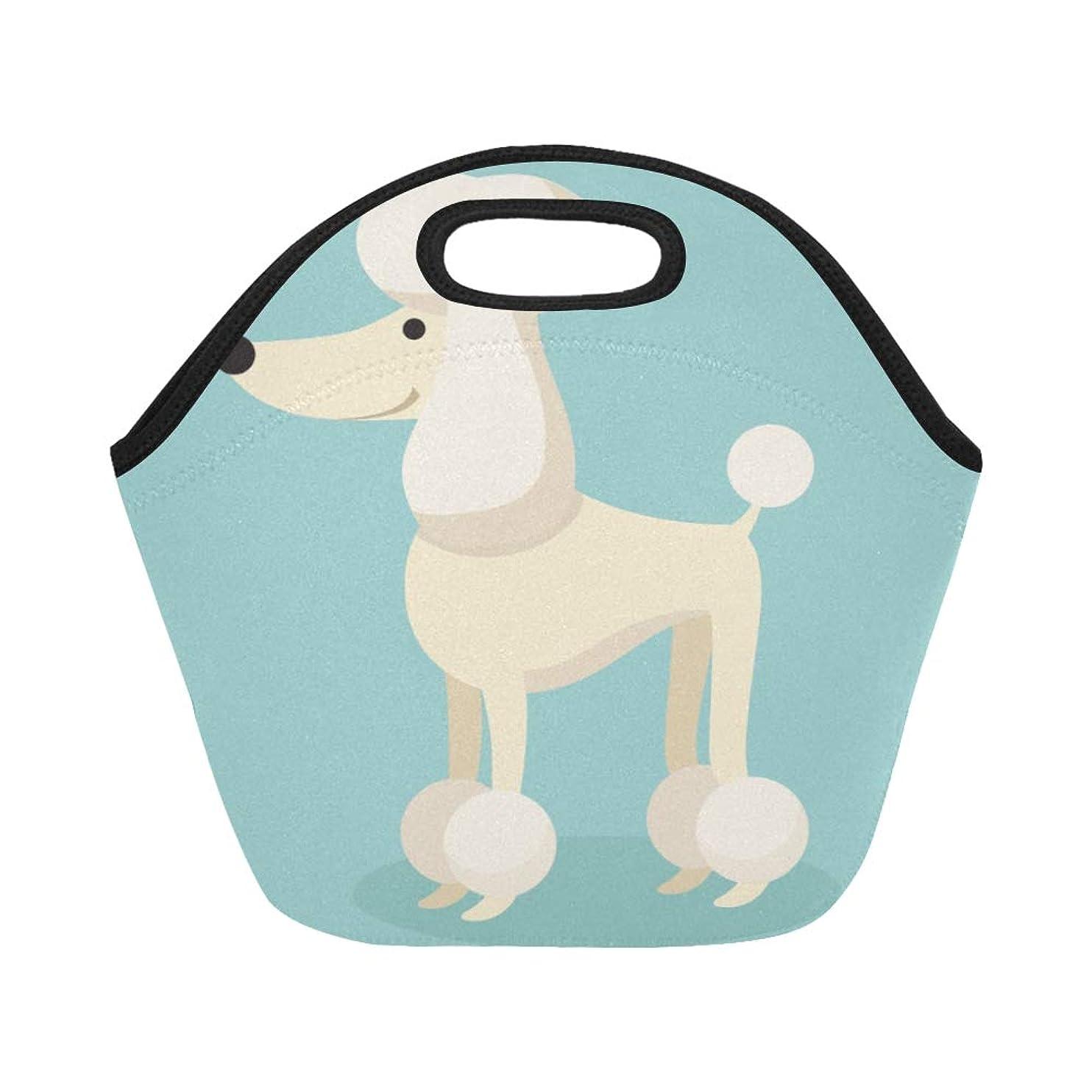 慈善劇作家治世XHQZJ ランチバッグ 面白い プードル 弁当袋 お弁当入れ 保温保冷 トート 弁当バッグ 大容量 トートバッグ