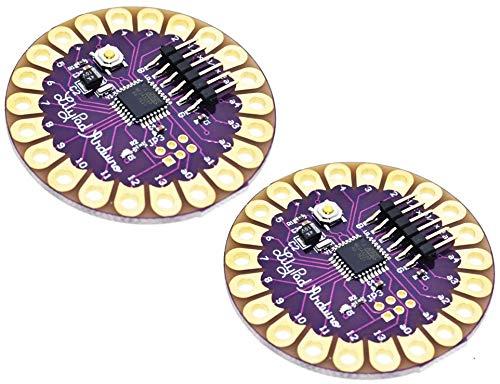 TECNOIOT 2pcs Lilypad 328 Main Board ATmega328P ATmega328 16M |2 Stück Lilypad 328 Hauptplatine ATmega328P ATmega328 16M