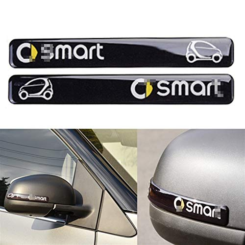 per Smart 453 451 Fortwo Forfour Universale Car Styling Specchietto Retrovisore Striscia Paraurti Crashproof Adesivo Epossidico Accessori Auto (Color : Nero)